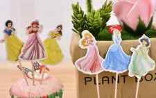 24 PCS DISNEY PRINCESS CUPCAKE TOPPERS  KIDS PARTY SUPPLIES BIRTHDAY