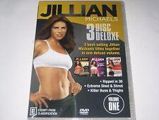 JILLIAN MICHAELS 3 disc deluxe set dvd NEW/SEALED R4