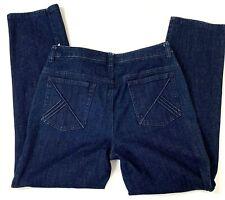 Jones New York Womens Jeans Petite Size 4 Stretch Dark Wash Denim Straight Leg