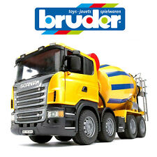 BRUDER 1:16 SCANIA R-series CEMENT MIXER CONSTRUCTION TOY TRUCK SAND PIT 3554