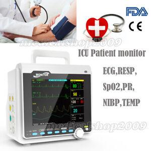 "CONTEC,8.4"" ICU CCU 6-Parameter Patient Monitor Cardiac Monitoring Instrument"