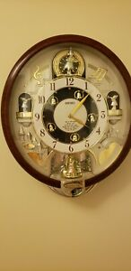 """Rare """"CHARMING BELLS""""  Melodies Musical In Motion Wall Clock *Read*"""