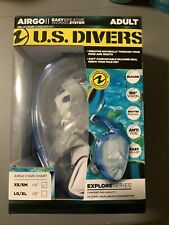 US Divers Airgo Full Face Snorkel Mask - Adult XS/SM EasyBreathe System