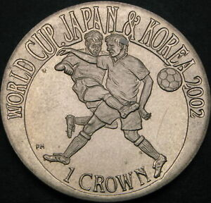 GIBRALTAR 1 Crown 2002 - FIFA World Cup 2002 - aUNC - 2137 ¤