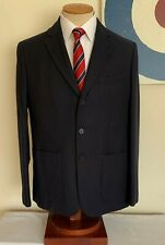 MENS REISS SINGLE BREASTED PATCH POCKET 3 BUTTON BLUE MELTON BLAZER 42R MOD