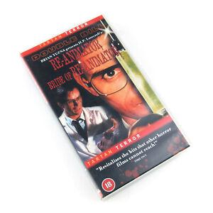 Re-Animator & Bride of Re-Animator VHS Cassette Tape PAL Tartan Terror