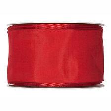 Tissu Ruban Rouge 60mm de Largeur Complet 25m Rouleau Taffetas Satin