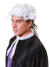 Court Wig. Unisex,Lawyer,Judge,Barrister, Fancy Dress Party Wig, Halloween #AU