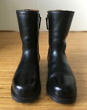 LUDWIG REITER Black Fur Lined Side Zip Boots