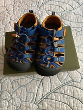 Keen Toddler Boys Sz 10 Blue Newport H2 Waterproof Shoes Perfect Condition