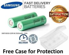 Samsung 25R 2500mAh INR 3.7V 20A Rechargeable Battery Flat Top for Multi Use
