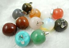 Wholesale Mixed agate Gemstone Hand-carved the apple Pendant Beads 12pcs