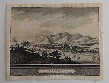 ANDALUCÍA, BORNES. Grabado original , Van der AA, 1707