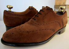 Barker Custom grado ante color chocolate Oxford punta del ala Cuero Calado UK 8.5 EU 42.5