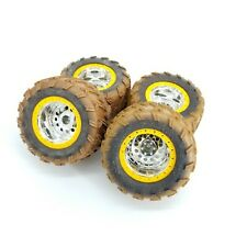 New Bright RC Brocky Muddy Crawler Wheels Tires Set of 4 Jeep Buggy Ford F-150