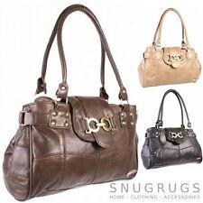 Echtleder Handtasche Schultertasche schwarz, braun, beige Lorenz Ref 376405