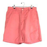 Vineyard Vines Mens 34 Flat Front Chino Bermuda Club Shorts 100% Cotton Pink