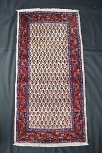 echter Sarough Mir 124x63 Saruk Sarug Brücke Rug Carpet Orientteppich Perser