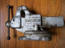 Vintage Craftsman No5185 Swivel Bench Vise Made By Reed Manufacturing