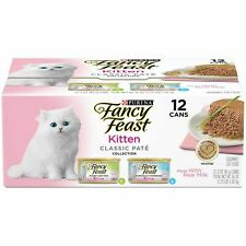 LOT OF 4-12 cans Purina Fancy Feast Kitten Classic Pate'. Turkey and Whitefish.
