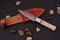 Custom HAND FORGED DAMASCUS STEEL Miniature Dagger Boot Knife +sheath