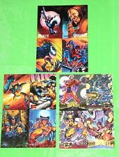 Spider-Man Fleer Ultra - Wolverine Marvel Masterpieces - Marvel Metal - 3 Sheets