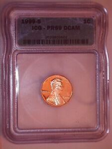 1999-S ICG PR69 DCAM Lincoln 1(C) Penny Proof