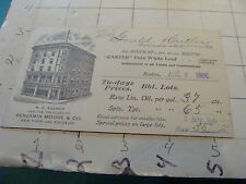 vintagel Trade Card: N E Agency for BENJAMIN MOORE & co. white lead