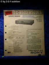 Sony Service Manual TC r503/r503es cassette Deck (#1795)