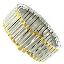 18-22mm Speidel Stainless Steel Silver and Gold Two Tone Metal Watch Band 1357