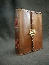 Leather Diary Journal Notebook Handmade Paper & Catch