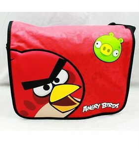 NWT Angry Birds Large Messenger Bag in Black 100% Authentic Goods by Rovio Red