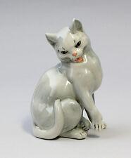 Porzellan Figur Graue Katze Ens H 12cm 9941015
