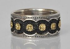 Konstantino Floral Motif Ring Band Sz 6 Sterling Silver 18K Gold Nemesis New