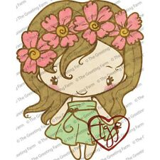 FLEUR ANYA-The Greeting Farm Cling Mount Rubber Stamp-Stamping Craft-RETIRED