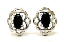 Sterling Silver Celtic Black Onyx Studs Earrings Made in UK Gift Boxed Birthday