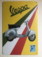 VESPA PIAGGIO SCOOTER METAL TIN SIGN CAFE PUB BAR WALL GARAGE DECOR 20x30 Cm