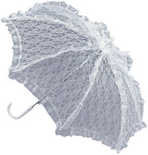 20s Victorian Style Ladies Fancy Club Party Accessory Parasol With White Lace UK
