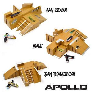 Apollo Fingerboard Rampen Set inkl. Komplett-Boards und Mini-Rampe