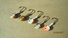 5 NEW 10gr (3/8oz) Fishing Jig Painted #1 Hook Jigs Heads Сolored from Ukraine
