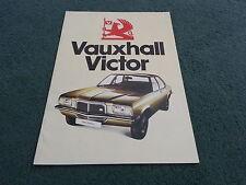 September 1975 / 1976 VAUXHALL VICTOR Saloon Estate 1800 2300 UK BROCHURE V2225