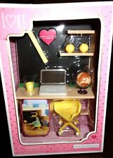 "Our Generation 6"" Lori Doll Home Workspace Furniture for Dollhouse Set NIB"