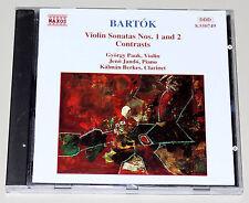 Bela Bartok Violin Sonatas sonate no 1 2-contrasts-Naxos CD COME NUOVO