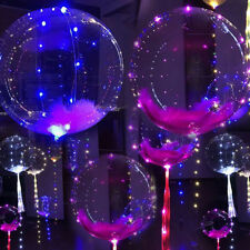 """20"""" Luminous Led Balloon Transparent Round Bubble Christmas Decor + LED Rope Hot"""
