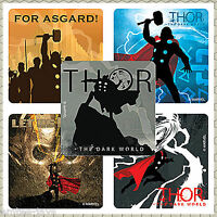 Thor Stickers x 5 - Favours Birthday Avengers Loot Bags - Thor Marvel Party Gift