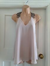 River Island Nude Diamond Embossed Detail On Shoulder Size 6 2 Missing