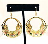 HandmadeHand-painted Butterfly Dangle Earrings