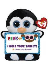 Ty Beanie Peek a Boos Hold Tablet Clean Screen Penni Black White Penguin *New