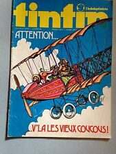 journal tintin l'hebdoptimiste 86 (1974) dossier avions + poster jody schekter