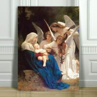 WILLIAM BOUGUEREAU - Song of the Angels - CANVAS ART PRINT POSTER - 12x8""